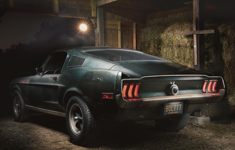 Photo wallpaper Ford, Fastback, 1968, Mustang GT, Bullitt
