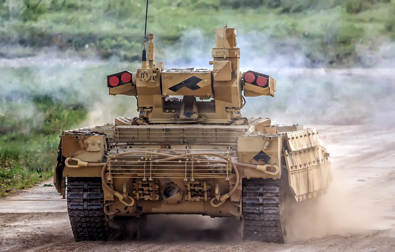 Photo wallpaper rear view, BMPT, Object 199, the fighting vehicle of support of tanks, BMPT Terminator