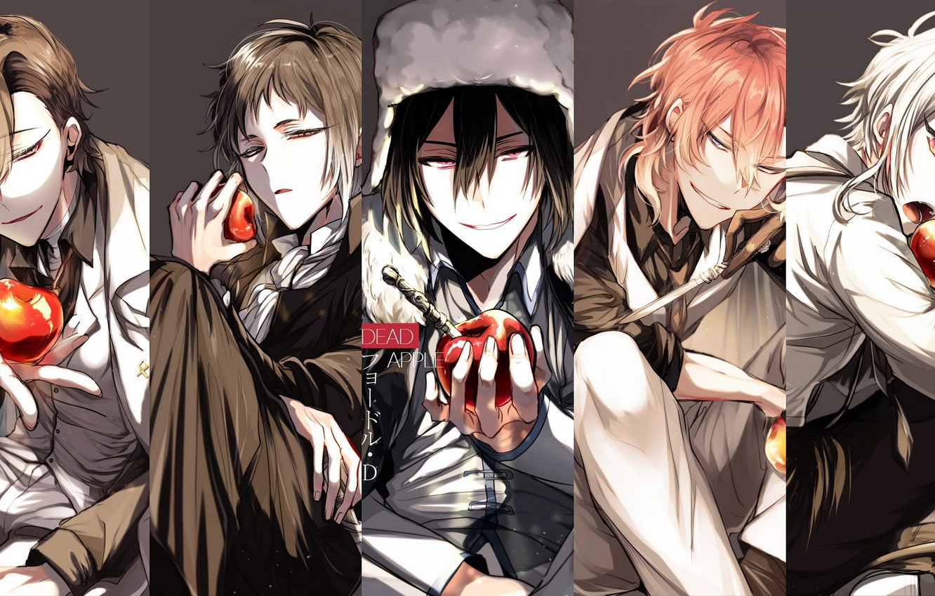 Wallpaper Collage Apples Guys Bungou Stray Dogs Stray Dogs A