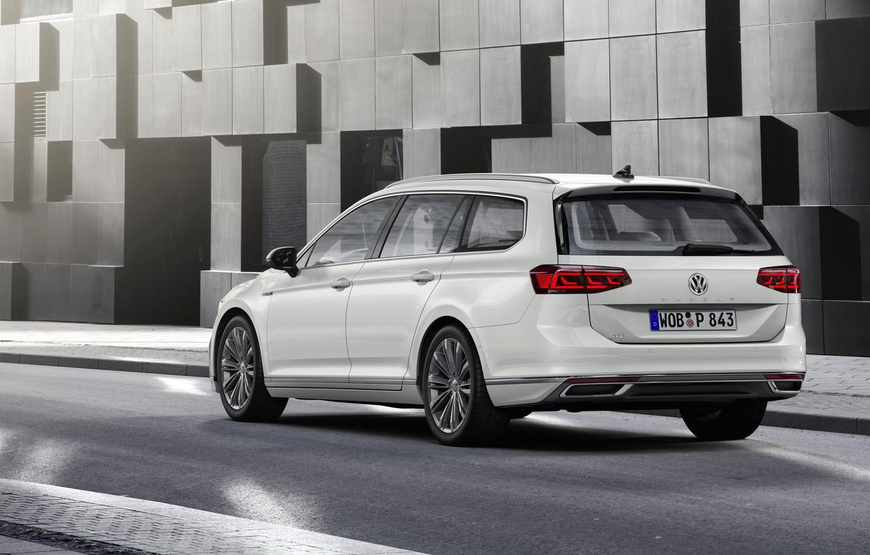 Photo wallpaper street, Volkswagen, universal, GTE, Passat, Variant, 2019