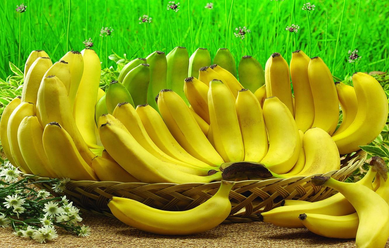 Photo wallpaper berries, fruit, bananas