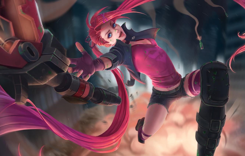 Wallpaper Pink Girl Fantasy Art Style League Of Legends
