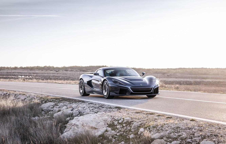 Photo wallpaper supercar, 2018, Rimac, electric car, C-Two