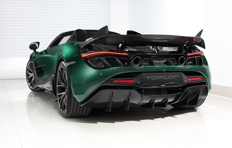 Photo wallpaper McLaren, supercar, rear view, Spider, Ball Wed, Fury, 2020, 720S