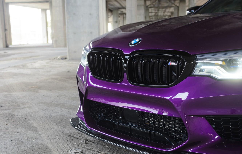 Photo wallpaper BMW, Purple, Front, F90
