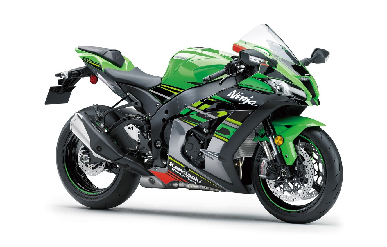 Photo wallpaper Kawasaki, Ninja, ZX-10R, 2019, KRT Replica