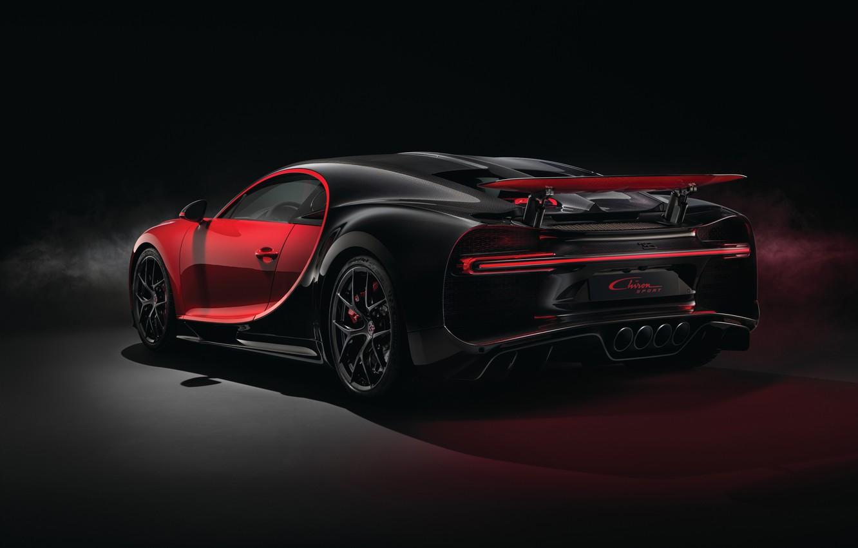 Photo wallpaper Bugatti, rear view, 2018, Sport, Chiron