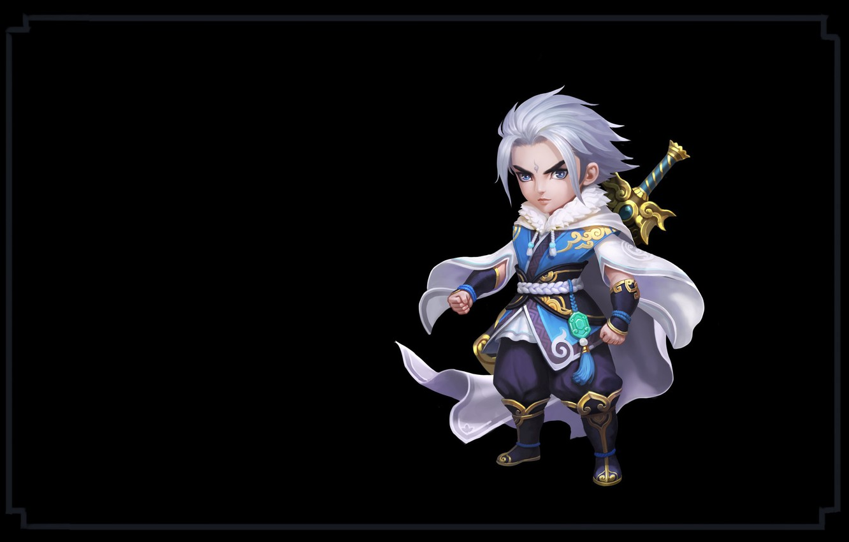 Photo wallpaper weapons, the game, sword, warrior, fantasy, art, wang xiao, Shushan Hero
