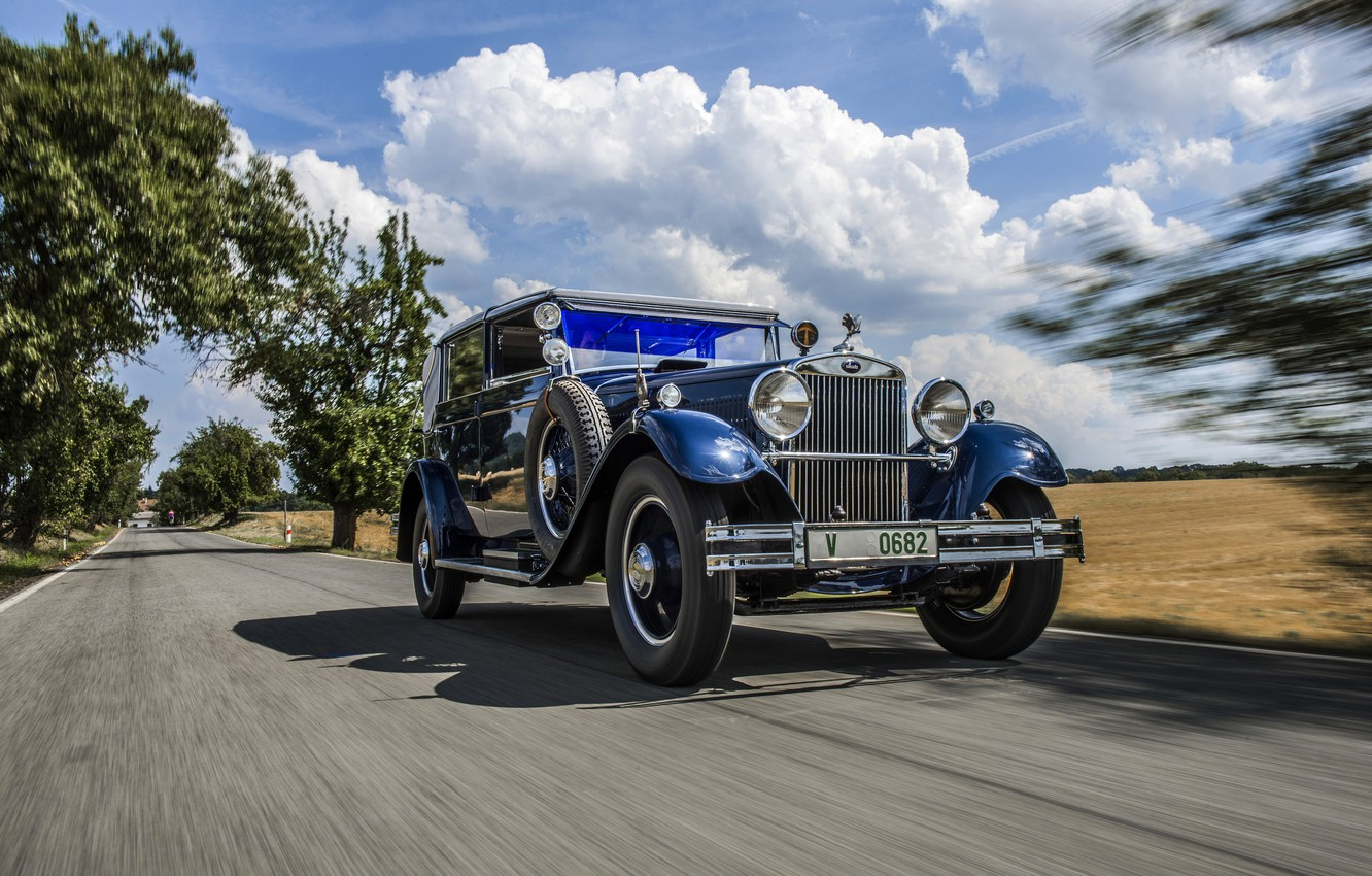Photo wallpaper road, 1932, Skoda, Skoda, 860 Cabriolet