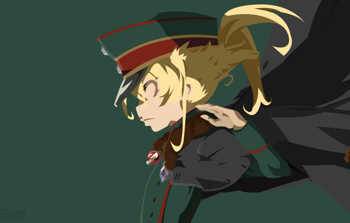 Photo wallpaper soldiers, girl, cloak, Tanya Is The Embodiment Of Evil