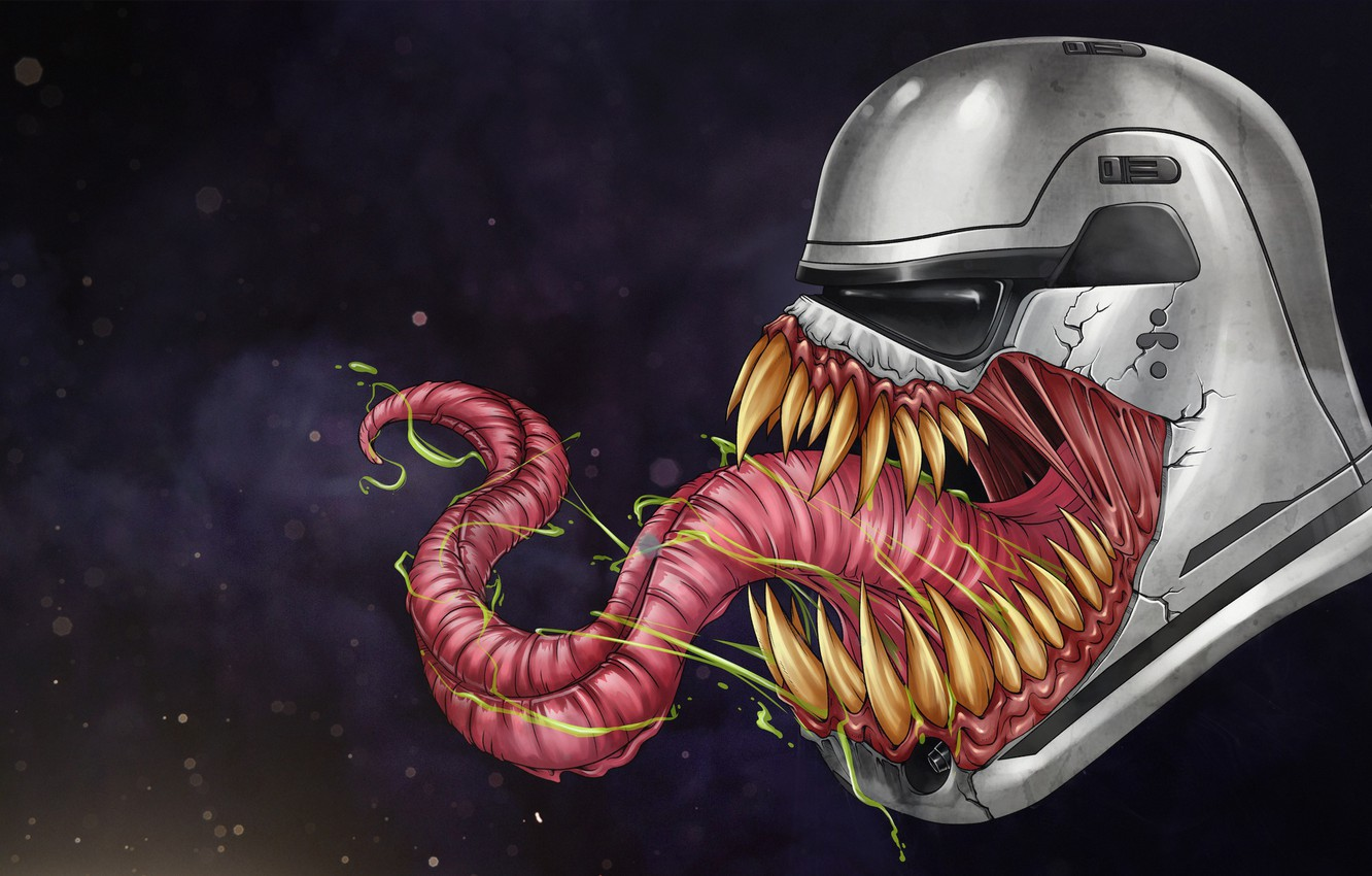 Wallpaper Figure Language Star Wars Teeth Helmet Mask Art Marvel Venom Venom Symbiote Attack Creatures Stormtrooper By Leo Tanguin Leo Tanguin Images For Desktop Section Art Download