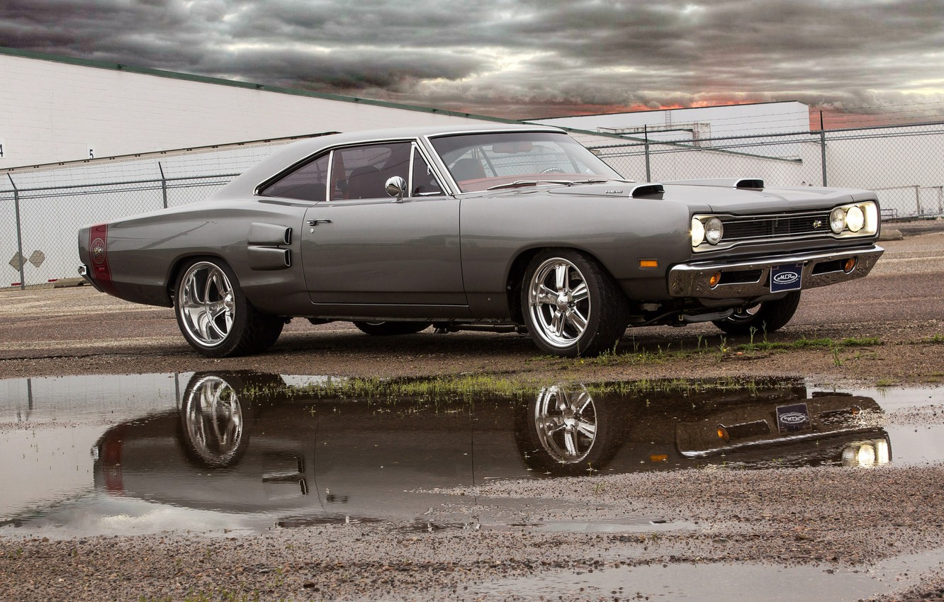 Photo wallpaper Muscle, Plymouth, Super Bee, Hemi, Road Runner, Vehicle, Modified