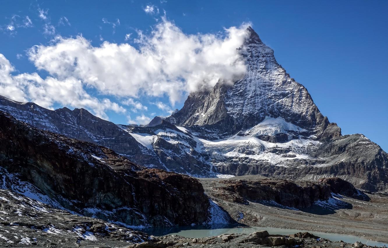 Photo wallpaper mountain, Switzerland, top, Matterhorn