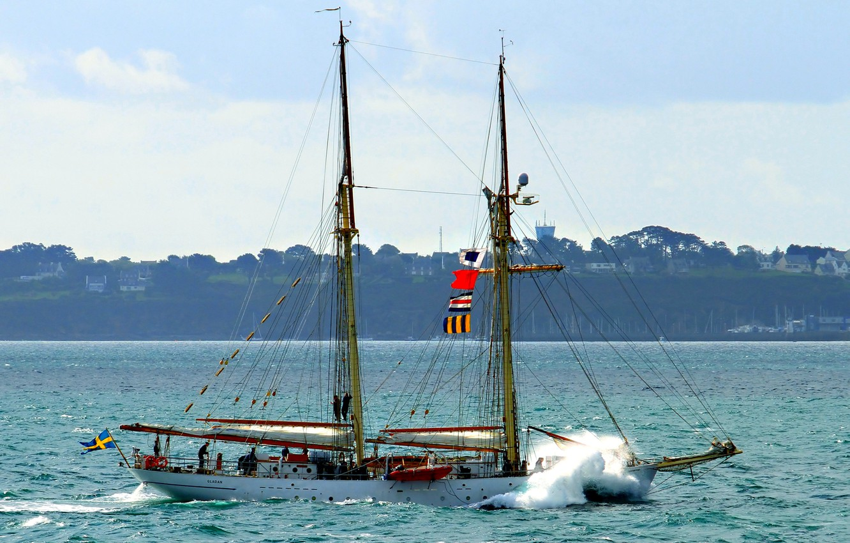 Photo wallpaper sea, the sky, sailboat