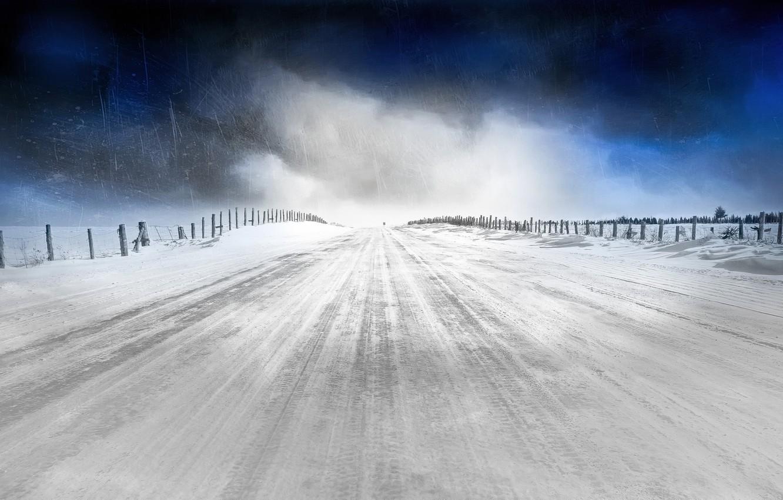 Photo wallpaper cold, winter, nature