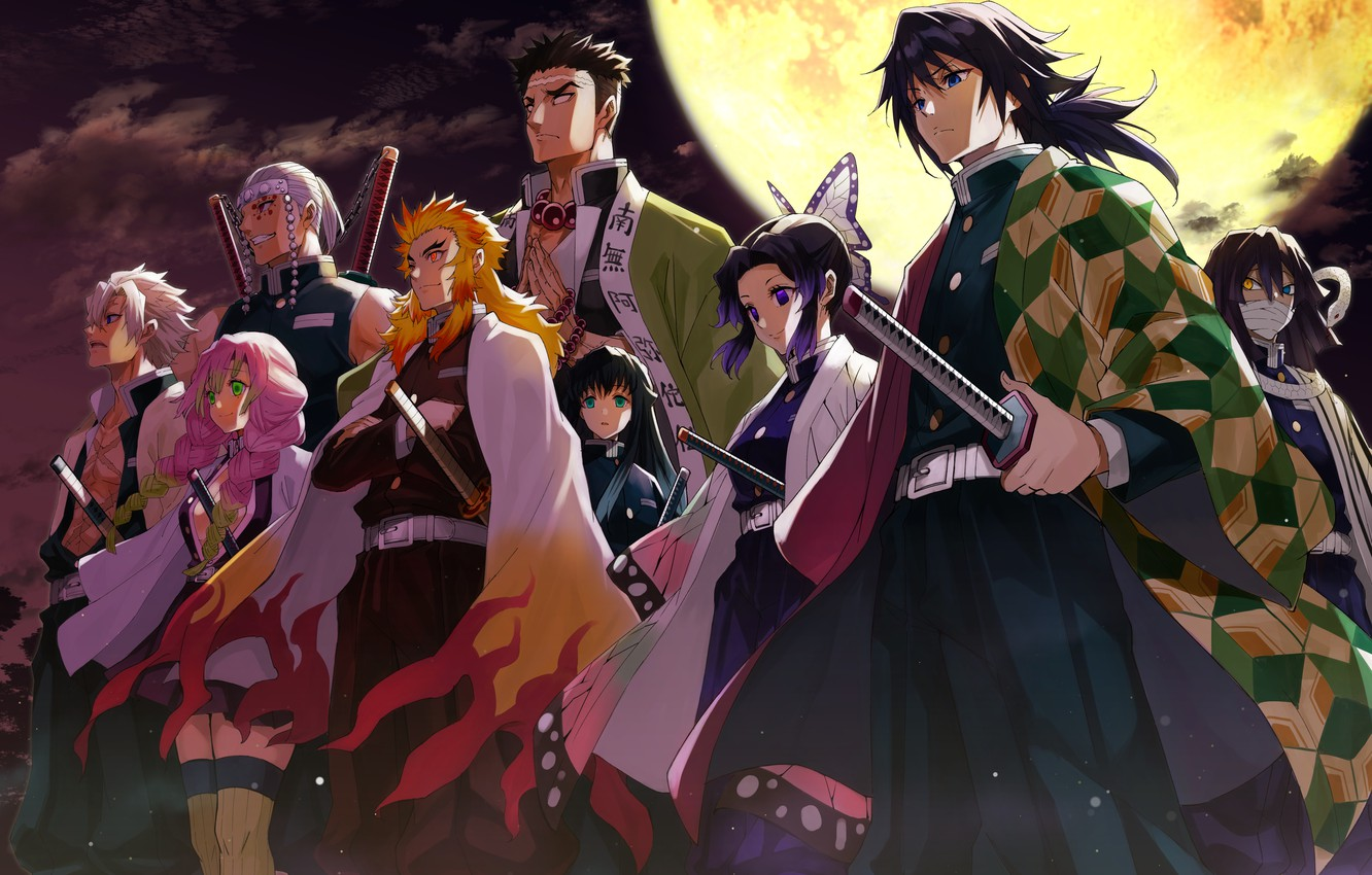 Wallpaper The Moon Characters The Blade Cleaves Demons Demon Slayer Kimetsu No Yaiba Images For Desktop Section Syonen Download