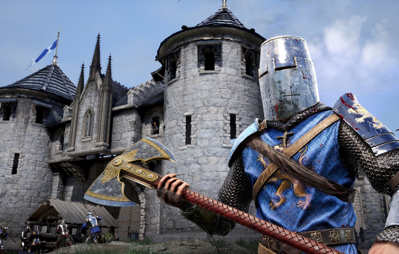 Photo wallpaper the city, weapons, armor, helmet, knight, Chivalry 2