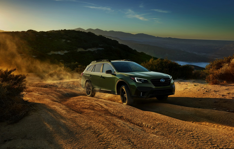 Photo wallpaper dust, Subaru, primer, universal, Outback, AWD, 2020