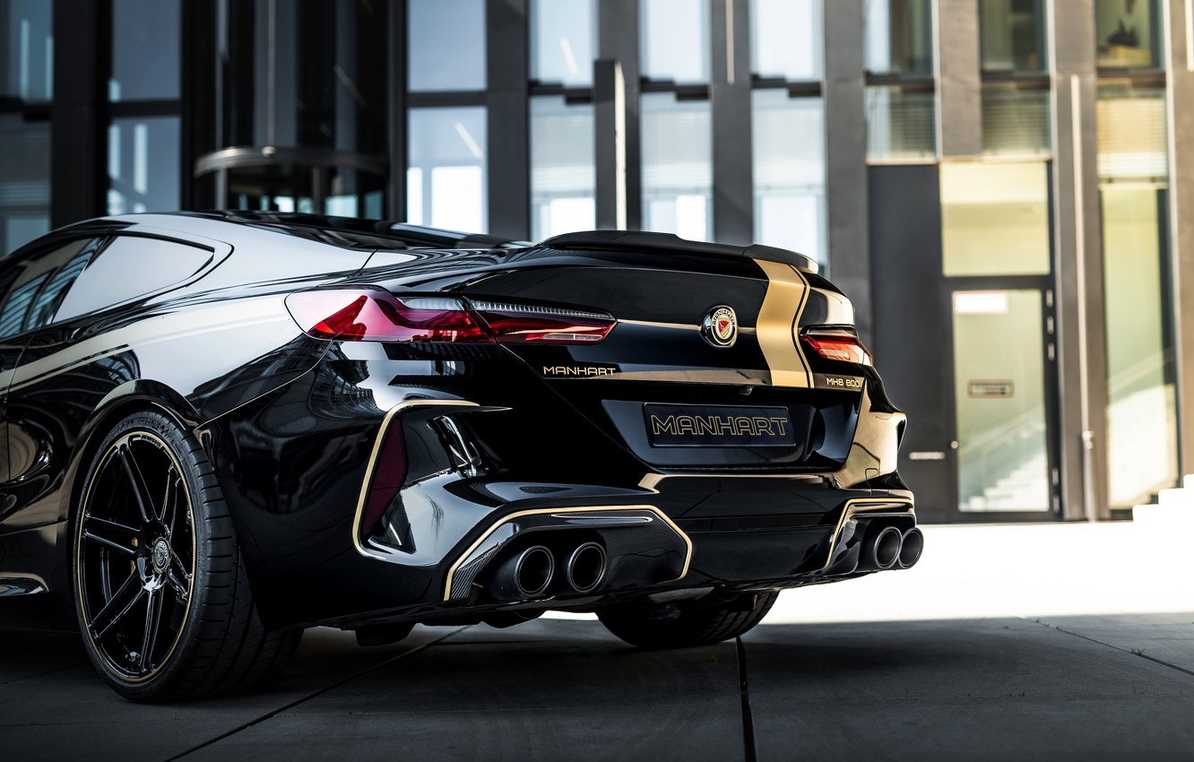 Photo wallpaper black, tuning, coupe, BMW, the rear part, Manhart, 2020, BMW M8, 4.4 L., two-door, V8 …