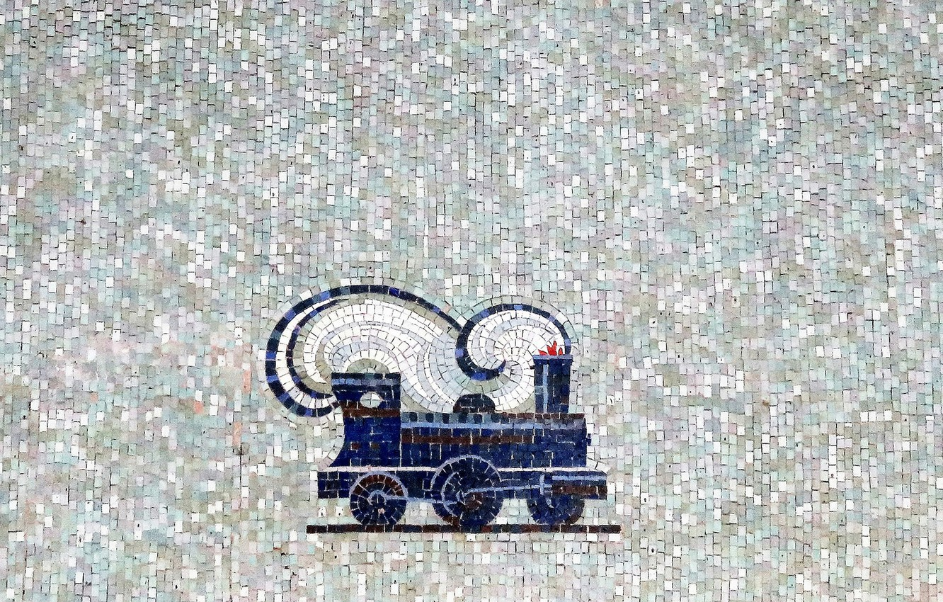 Photo wallpaper mosaic, the engine, minimalism, texture