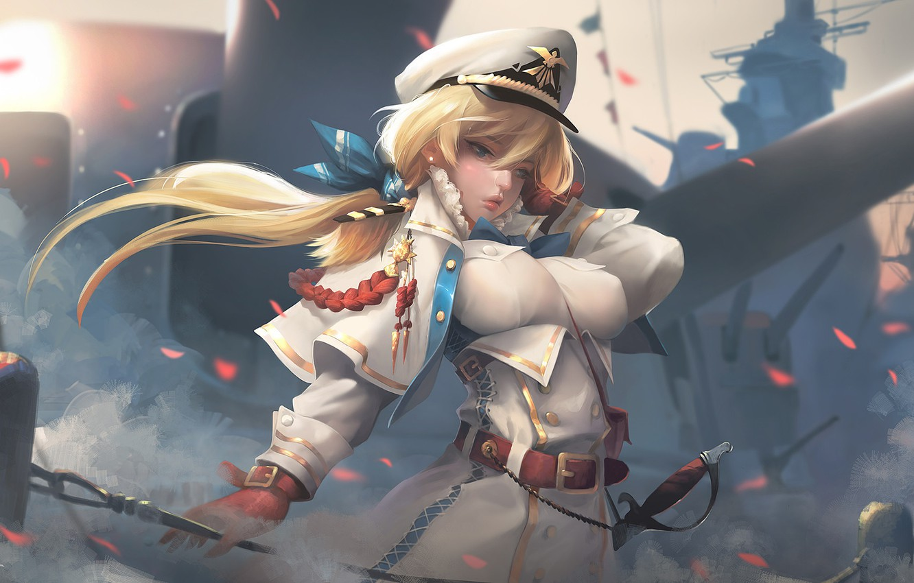 Photo wallpaper karabl, anime, art, captain, Navy, Captain, Taejune Kim