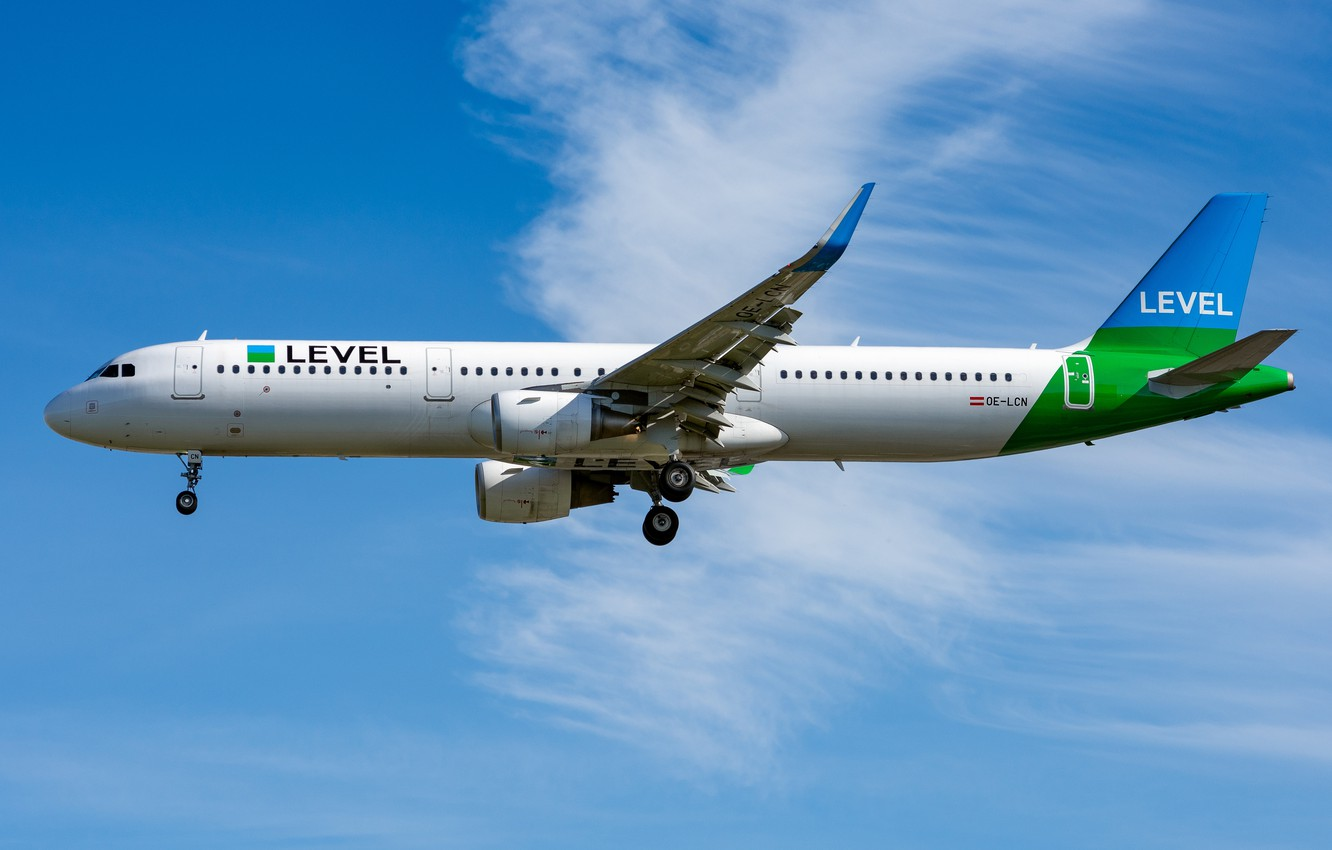 Photo wallpaper Airbus, OE-LCN Level, A321-200S