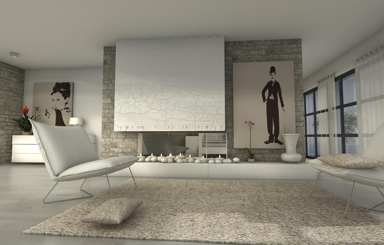 Photo wallpaper design, style, room, interior, living room