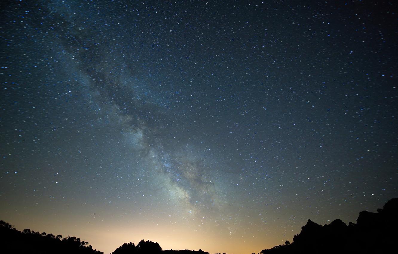 Photo wallpaper Sky, Stars, Night, Milky Way