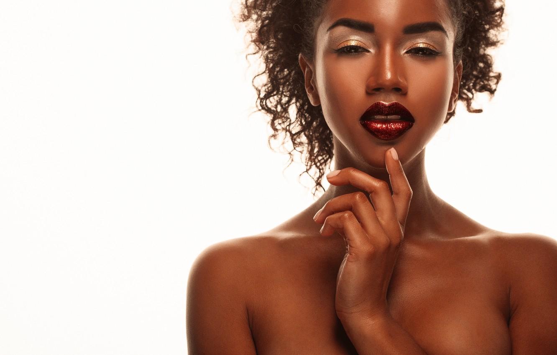 Photo wallpaper model, pretty, nude, make up
