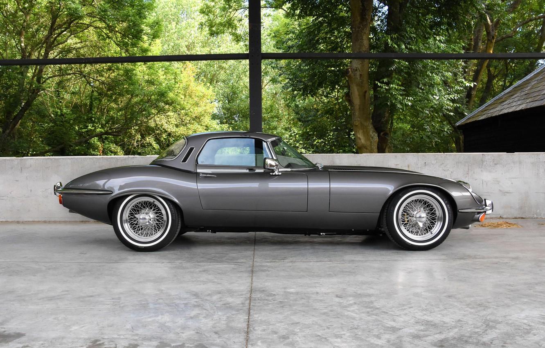 Photo wallpaper side view, British, Jaguar E-Type