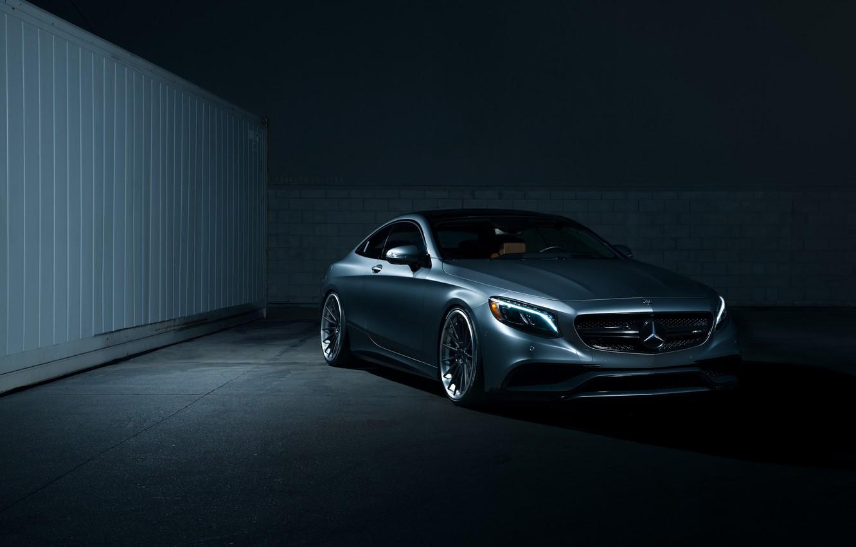 Photo wallpaper Dark, Mercedes, Car, AMG, Coupe, S63