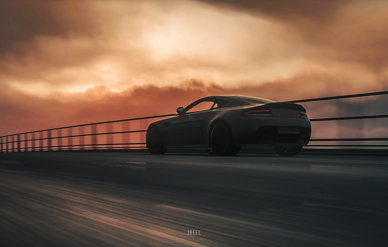 Photo wallpaper Aston Martin, Auto, Machine, Rendering, Aston Martin Vantage, DRIVECLUB, Game Art, Environments, Transport & Vehicles, …