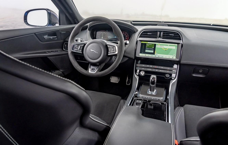 Photo wallpaper Jaguar, Salon, The wheel, 2018, Jaguar XE SV Project 8, Jaguar XE