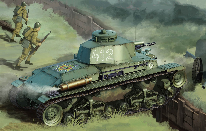 Photo wallpaper Skoda, Czechoslovak light tank, LT vz.35, tank Romanian R-2