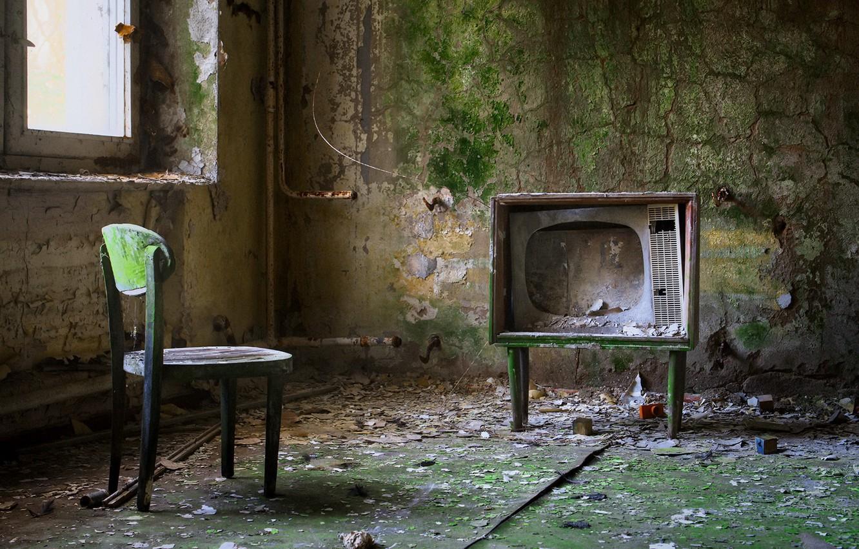 Photo wallpaper TV, window, chair