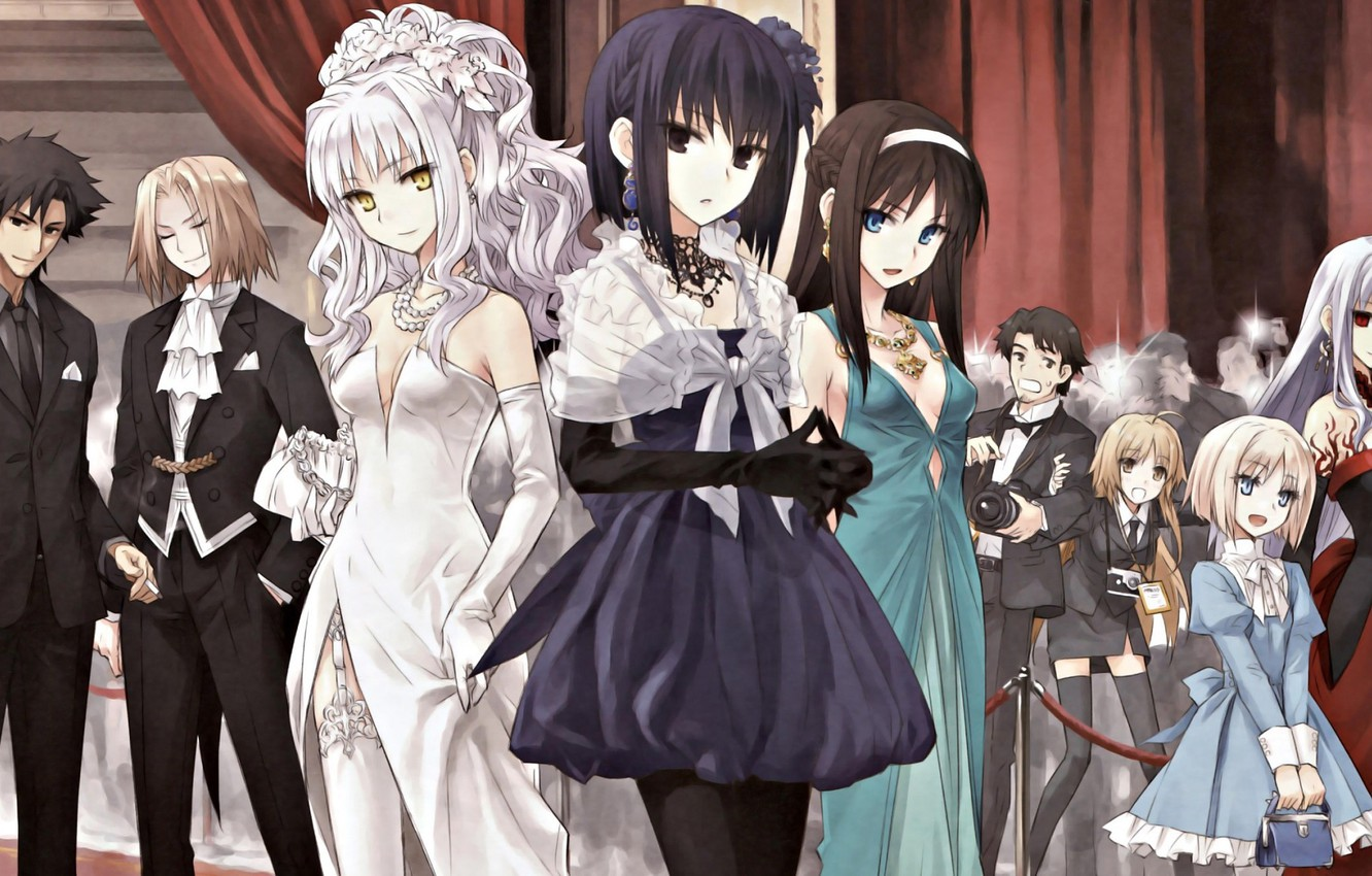 Photo wallpaper girls, characters, ball, Fate stay night, Fate / Stay Night