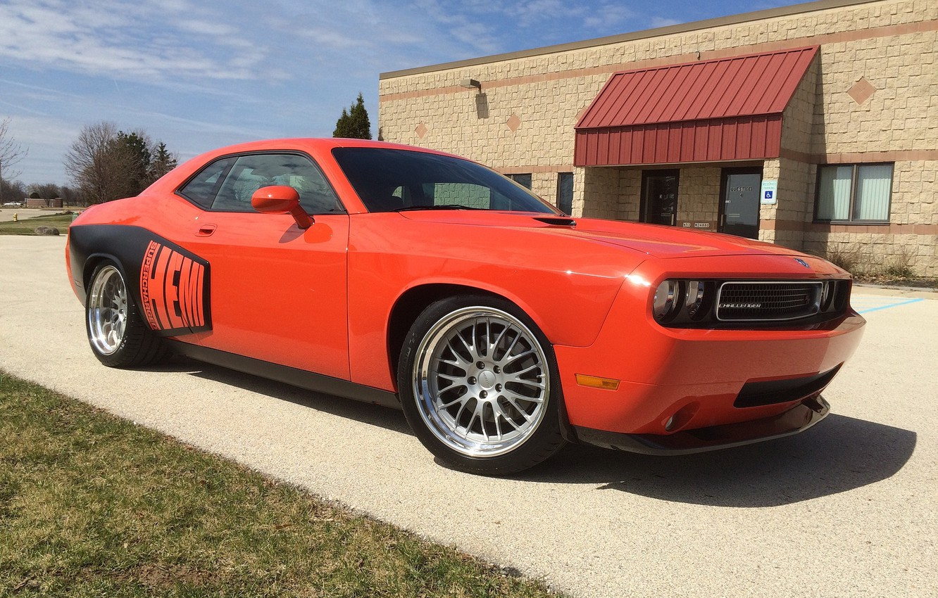 Photo wallpaper Dodge, Challenger, Wheels, MD3S