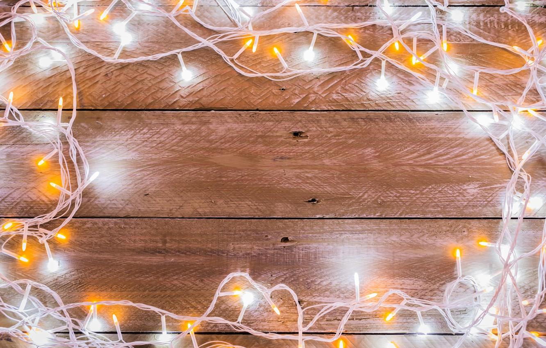 Photo wallpaper background, tree, New Year, Christmas, garland, Christmas, wood, background, New Year, Merry