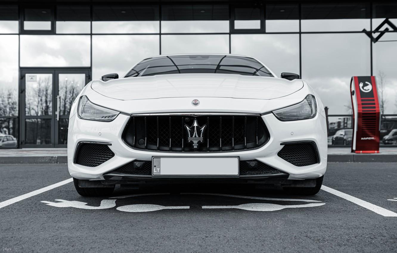 Photo wallpaper Maserati, Car, White, Italian, Maserati Ghibli, Ghibli, Italian Car