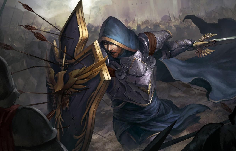 Wallpaper Sword Fantasy Tower Soldier Armor War