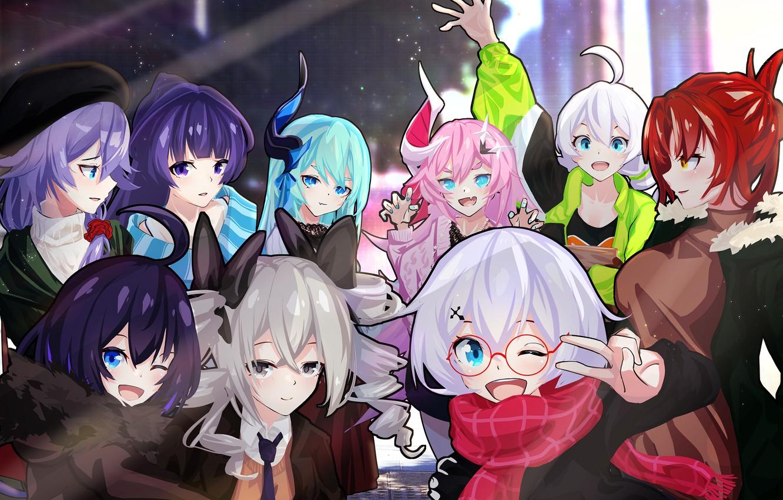 Photo wallpaper girls, group, Honkai Impact 3rd