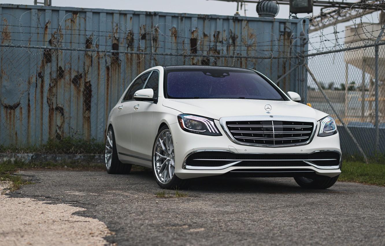 Photo wallpaper Light, Mercedes, White, W222, S500, Facelift