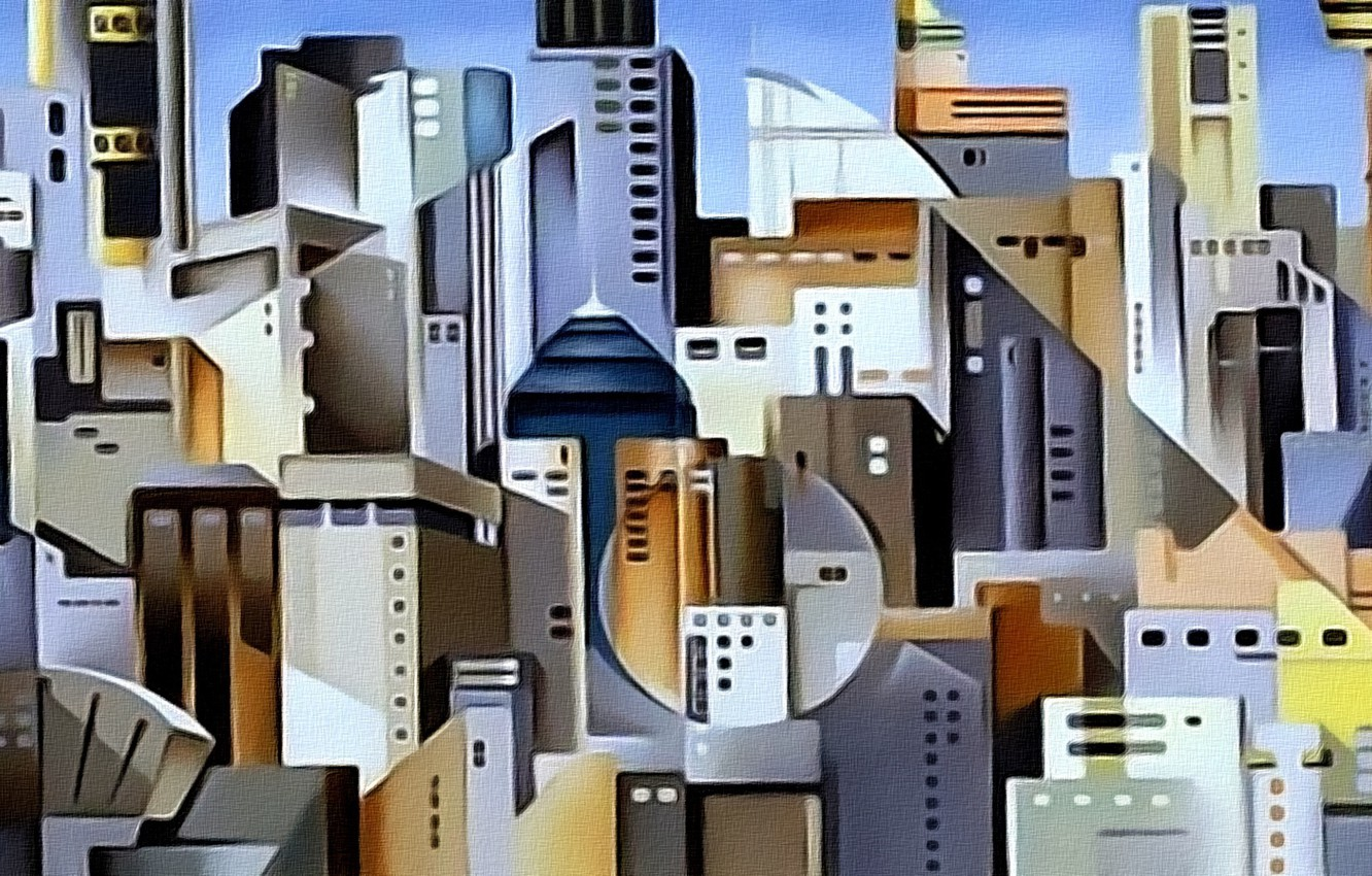 Photo wallpaper abstraction, the city, figure, home, picture
