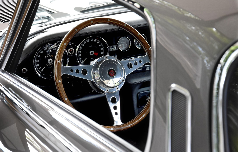 Photo wallpaper The wheel, Dashboard, Jaguar E-Type