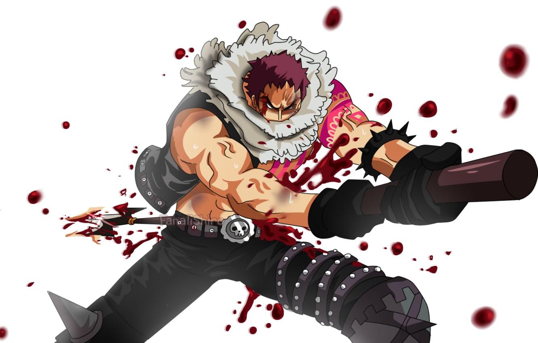 Photo wallpaper blood, male, One Piece, bayonet, One Piece
