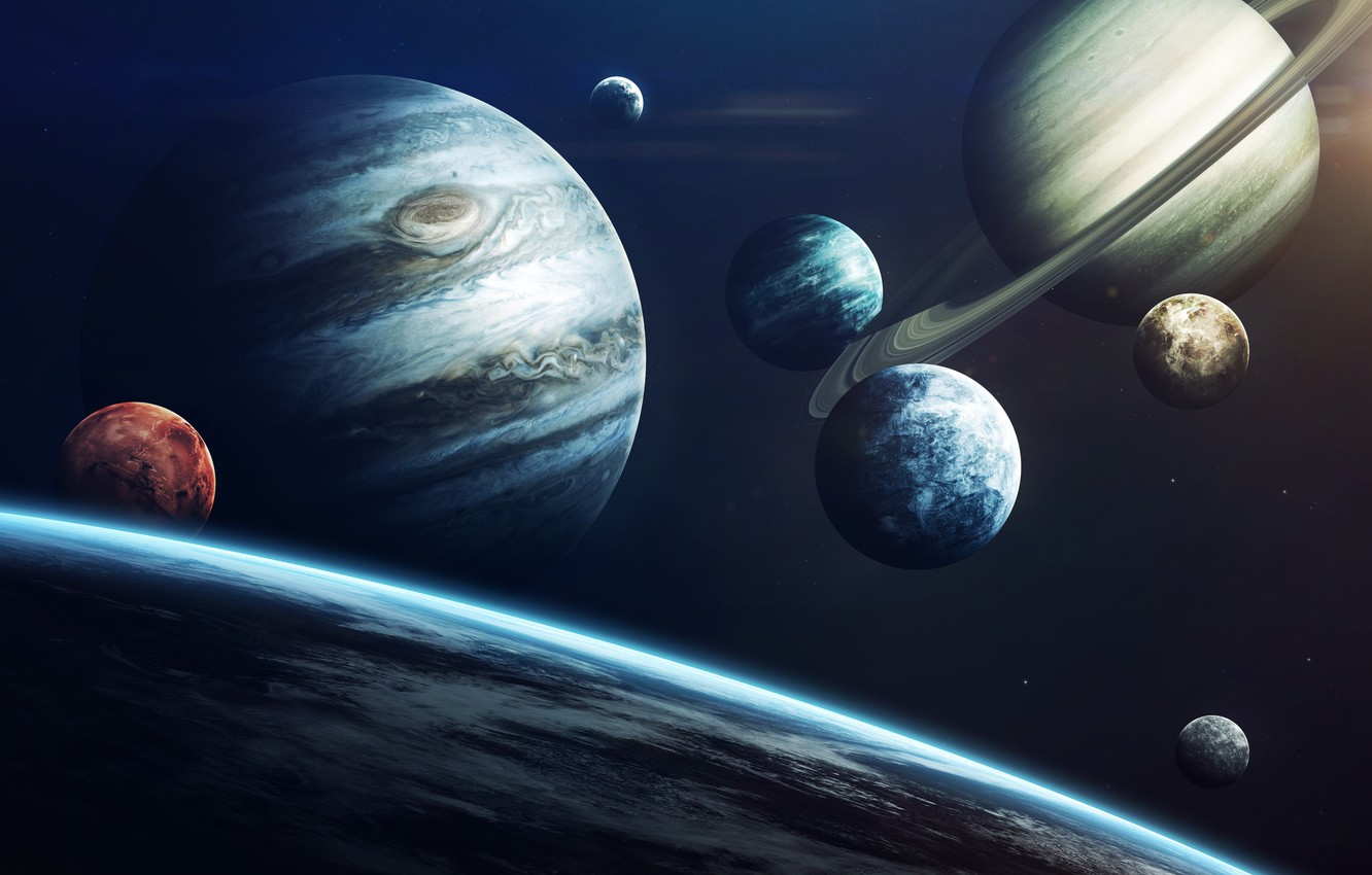 Wallpaper Saturn The Moon Space Earth Planet Moon Mars