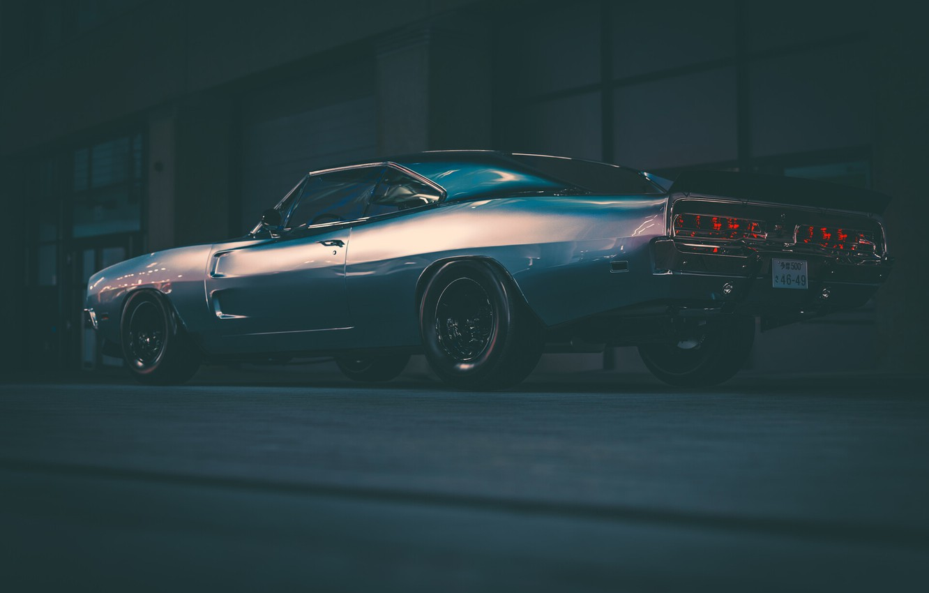 Photo wallpaper Auto, Machine, Charger, Dodge Charger, Chrome, Muscle, Transport & Vehicles, Edward Curioni, by Edoardo Curioni, …