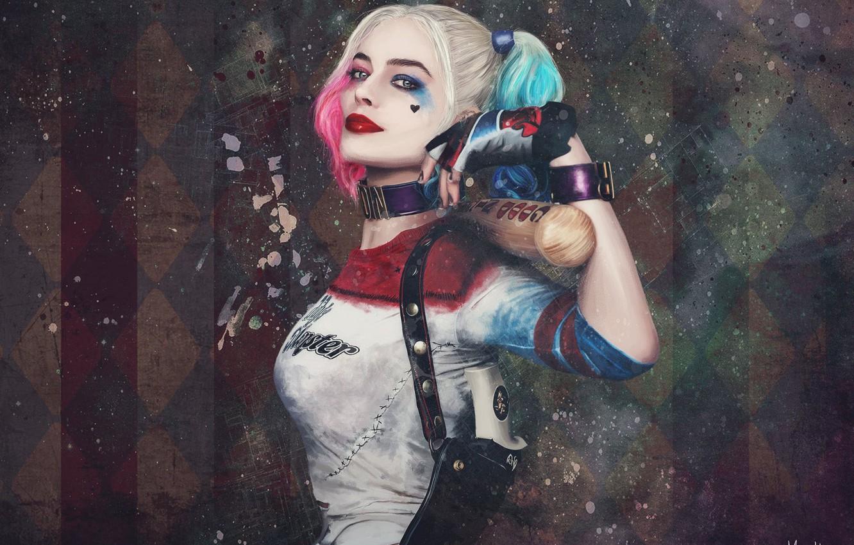Photo wallpaper look, the film, makeup, bit, Harley Quinn