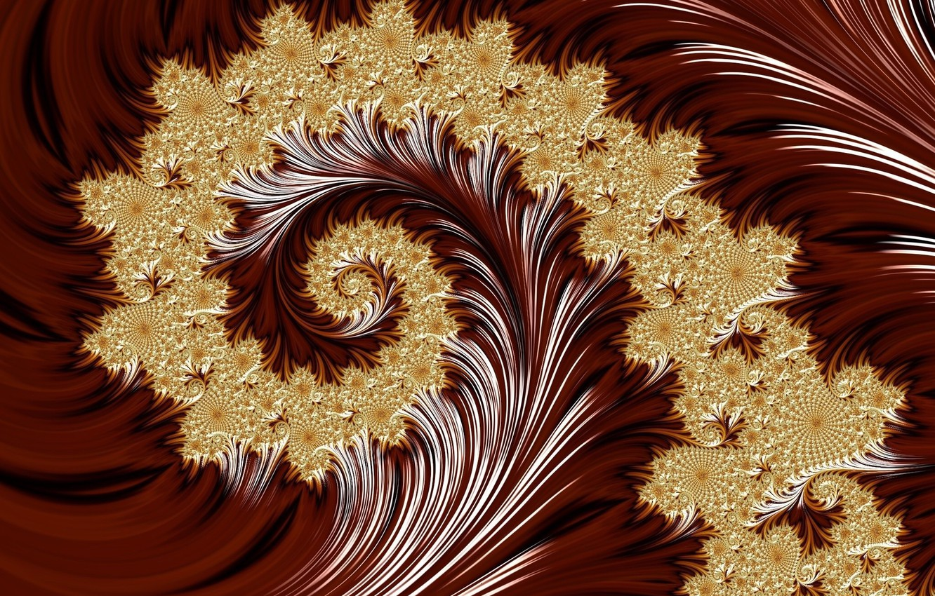 Photo wallpaper background, curl, pattern gold