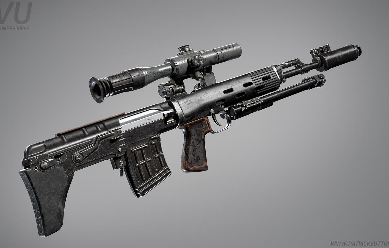 Photo wallpaper rendering, weapons, gun, weapon, render, custom, sniper rifle, snayperskaya rifle, marczynska rifle, all, marksman rifle, …